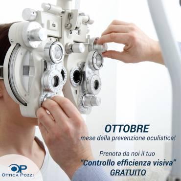 OTTOBRE è il mese della prevenzione oculistica! Vi aspettiamo numerosi!